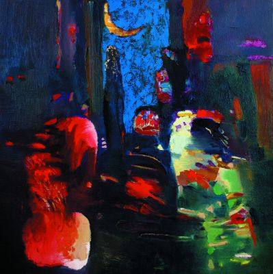 Mystery of Night, oil, canvas, 100 X 100 cm, 2003